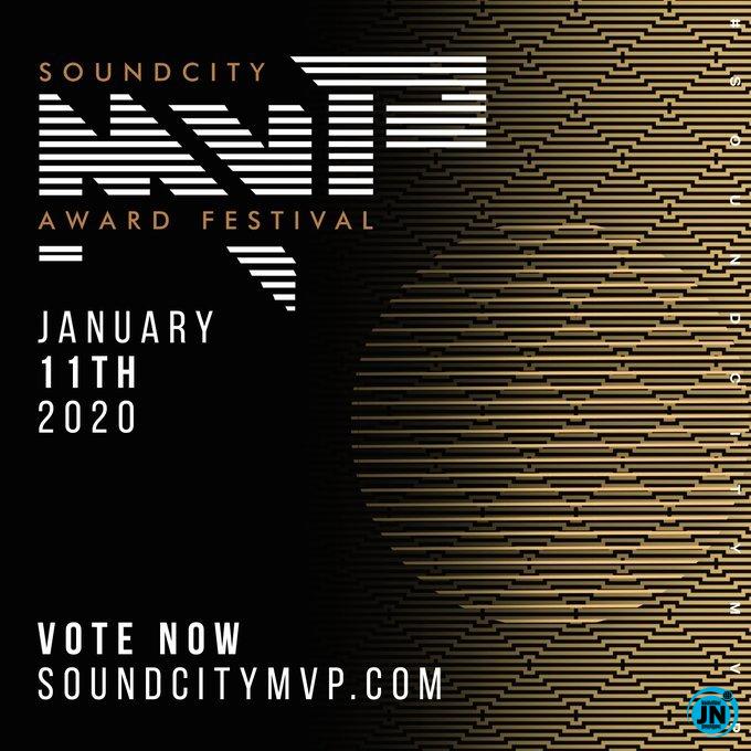 2020 Soundcity MVP Awards: Full list of Nominees